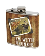 I'm With Drunkie Flask (set of 2)