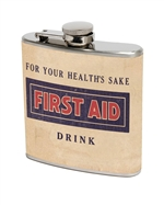 First Aid Drink Flask (set of 2)