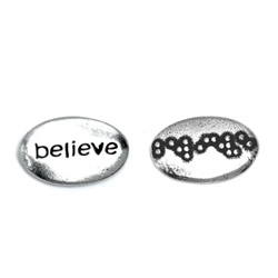 Believe Braille Word Pebble (bulk of 25)