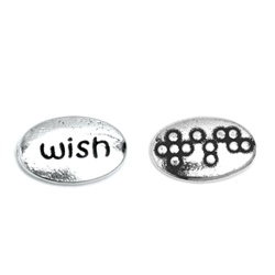 Wish Braille Word Pebble (bulk of 25)